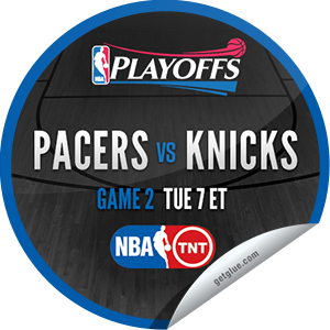 I just unlocked the 2013 NBA Playoffs: Pacers vs. Knicks #2 sticker on GetGlue                      1624 others have also unlocked the 2013 NBA Playoffs: Pacers vs. Knicks #2 sticker on GetGlue.com                  You are now watching game 2 of Indiana Pacers vs. New York Knicks in the 2013 NBA Playoffs on TNT. Thank you for tuning in and enjoy.  Share this one proudly. It's from our friends at Turner Sports.
