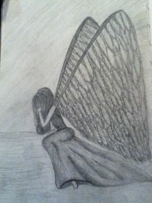Fallen Angel. Inspired by the drawing by the account ~Tesselle on deviantart.