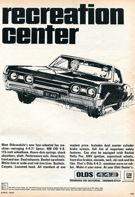 1967 Oldsmobile 442 Advertising Hot Rod Magazine April 1967 by SenseiAlan on Flickr.1967 Oldsmobile 442 Advertising Hot Rod Magazine April 1967