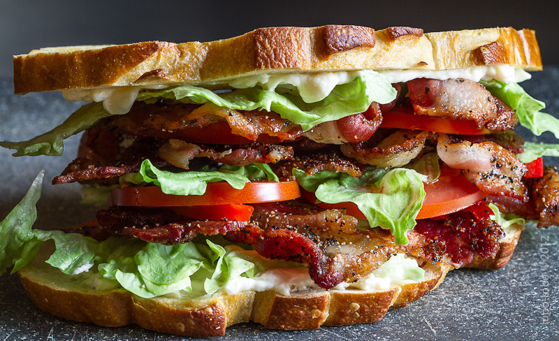 BLT with Red Bell Peppers