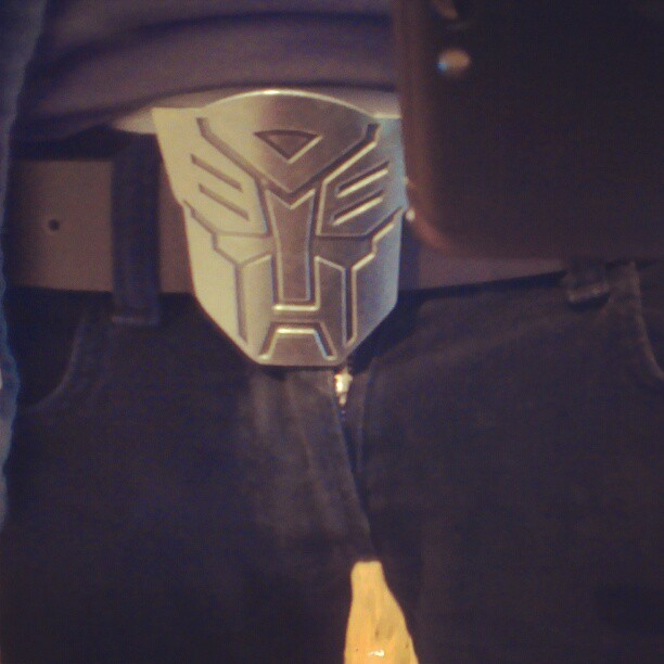Autobot guarding my crotch.