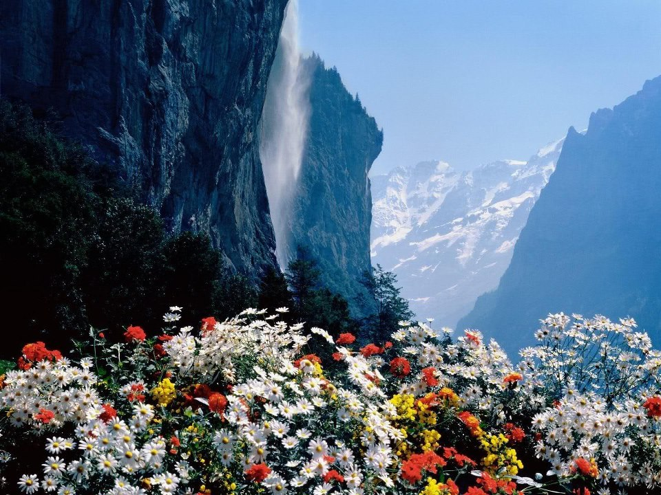 tremblingcolors:  Staubbach Waterfall, Lauterbrunnen, Switzerland in Spring