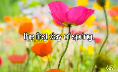 March 20th is the first day of Spring this year!