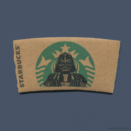 sleevebucks starwars darth vader star wars fandom star wars fan art dark side i find your lack of faith disturbing star wars puns sith anakin starbucks coffee coffee sleeve art coffee sleeve illustration doodle ink sharpie cardboard mermaid siren logo