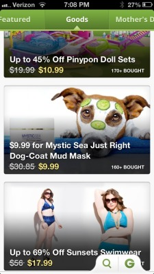 A face mask for a dog means you have too much money. A Groupon for a face mask for a dog means you're a broke ass idiot.