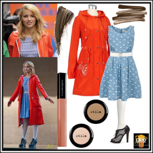 Quinn Fabray - New York by celineegee featuring brown eye makeupParisian dress, $38 / Hooded jacket / Forever 21 knit stocking / Forever 21 lace up high heel boots / Karen Millen slimming belt / Bobbi Brown Cosmetics  / Benefit brown eye makeup / Stila  eye shadow / Stila  eye shadow / Illamasqua , $21