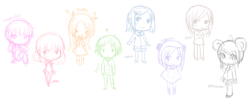 lilypichu:  random tumblr people in rainbow! magecakes midi quellie sojiro nashira natsumi rose panda  I look very happy <3