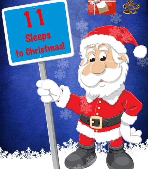 According to this app, it's 11 sleeps to Christmas!  No, guys my excitement is actually painful.