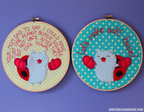Catbug Hoops (by loveandasandwich) I don't really understand…I think I'm missing a reference… but anyways, this is cute!