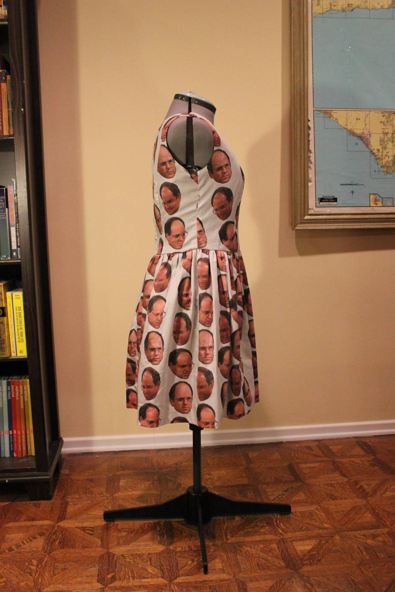 The Can't Stand Ya Dress Graphics made in Photoshop and printed onto Organic Cotton Sateen Black cotton lining, heavy duty gold zipper Jan 2013