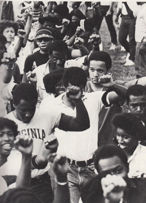 specialnights:  Black Student Protest During Reagan Era.