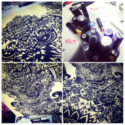 My Process work with Posca Pens