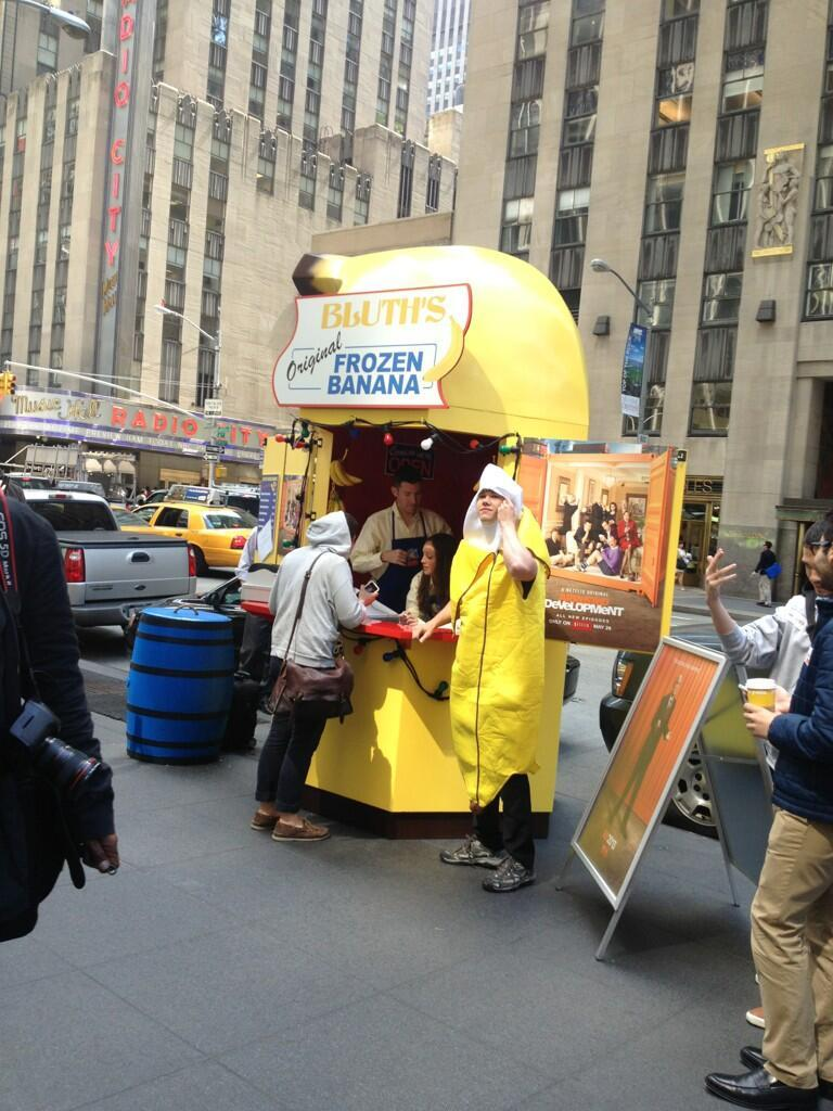 The Banana Stand has hit NYC. The line is apparently hundreds long already. (via gilbertjasono)