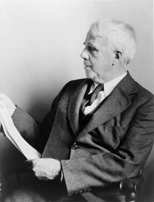 poetrywritingcafe:   Robert Lee Frost (March 26, 1874 – January 29, 1963) was an American poet. He is highly regarded for his realistic depictions of rural life and his command of American colloquial speech.[1] His work frequently employed settings from rural life in New England in the early twentieth century, using them to examine complex social and philosophical themes. One of the most popular and critically respected American poets of his generation, Frost was honored frequently during his lifetime, receiving four Pulitzer Prizes for Poetry.  Read More —>
