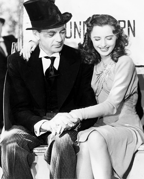 mariedeflor:  Gary Cooper and Barbara Stanwyck on the set of Ball of Fire, 1941