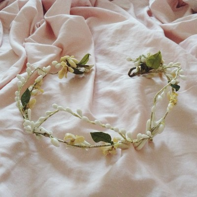today's find: 1920s wax floral tiara