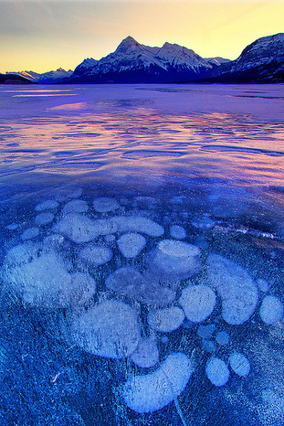 neptunesbounty:  Canadian Rockies - Abraham Lake by kevin mcneal on Flickr.