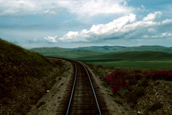 train tracks in Mongolia