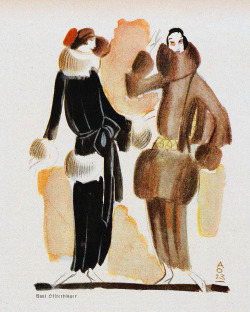 zombienormal:  Fashion illustration by Annie Offterdinger, Jugend magazine, 1923.  Via.