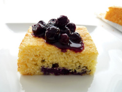 Blueberry Lemon Cornmeal Cake by pastrystudio on Flickr.
