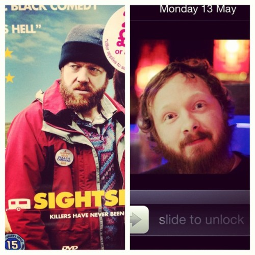 Hehehe @baker2d is the man from sightseers #beard #ginger #funny #face #love