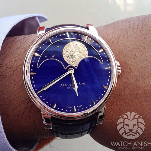 watchanish:  The new HM Perpetual Moon from Arnold & Son. Starting from 15,000CHF, with tax!