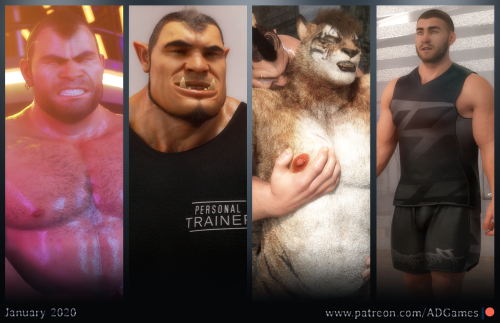 Testosterone, muscles, sweats… A crazy month and there are only a few days left to enjoy it :Dhttps://patreon.com/ADGames #3d#ad games#muscles#sweats#furry#orc