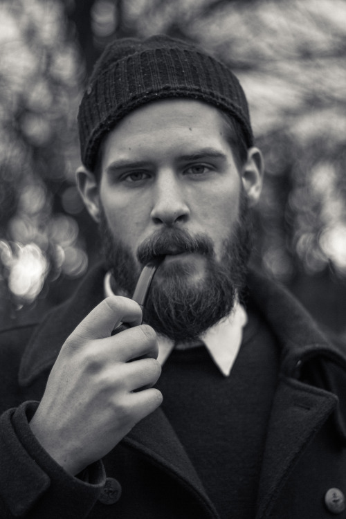 flickr-beard-power:  beardbrand:  Pipe and beanie  Yes, this is an awesome photo for many reasons… Follow: http://flickr-beard-power.tumblr.com/