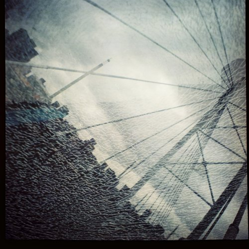 Jozi Skyline || Shattered glass Lomography Diana F+ Braamfontein, South Africa