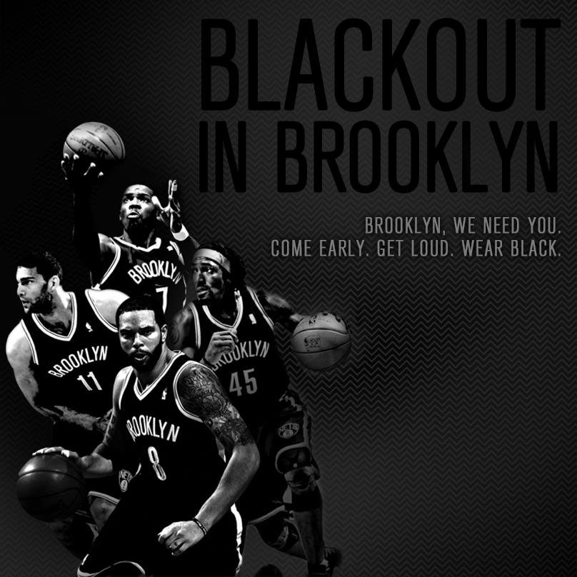 Believe in Brooklyn. 3-1 down, but definitely not out. Your Nets are looking to become the 9th team in NBA history to come back from such a deficit. We'll need your support at Barclays Center tonight for the Blackout in Brooklyn!