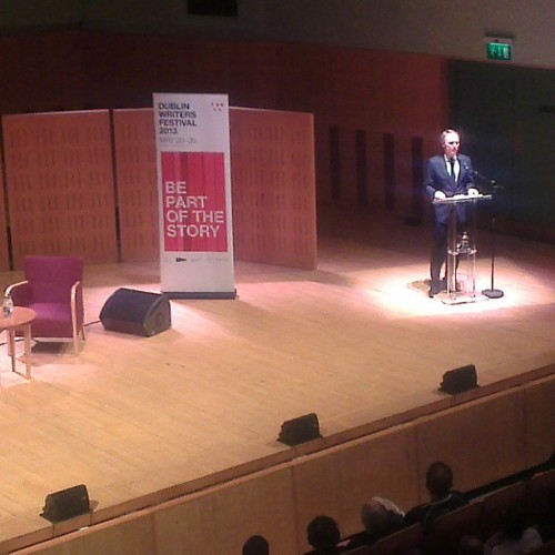 Dan Brown on stage @dublinwritersfestival  (at The National Concert Hall)