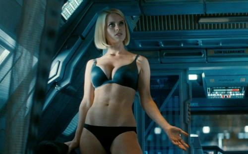 This particular scene of Alice Eve in her underwear caused some backlash for Star Trek Into Darkness. Eve walking around in her underwear has absolutely nothing to do with the plot and is simply an exploitation of the actress. Lindelof, who co-wrote...