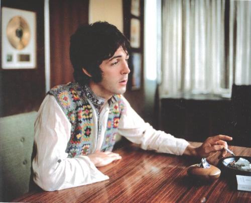 Paul McCartney photographed by Henry Grossman; August 1967.