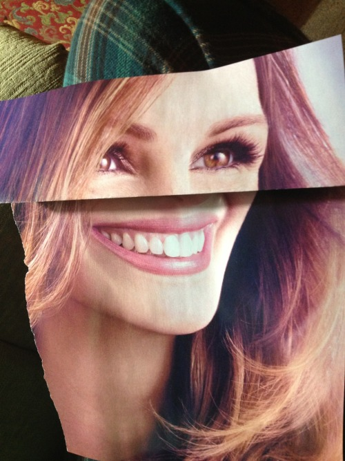 aciduck:so i folded an advertisement of julia roberts in half and