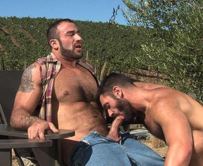 randydave69:  Big man gets his thick cock sucked outside! Dave http://randydave69.tumblr.com/archive or my blog: http://randydave69.tumblr.com/