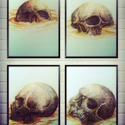 #skull #artnerd #artcollective #drawing #ingking #painting #watercolour #art #illustration #doodle #instagood #indonesia #artwork