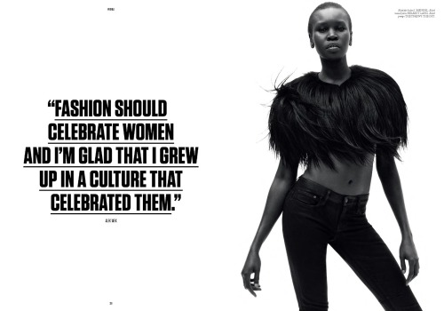 "stormtrooperfashion:  Alek Wek in ""Alek Wek"" by Daniel Jackson for Under the Influence, Fall/Winter 2012"