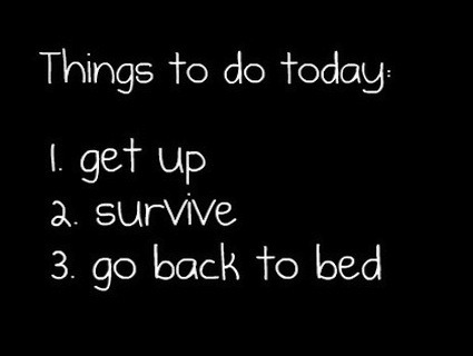 My daily schedule.