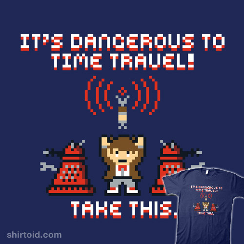 shirtoid:  Time Travel by Baz is $10 today only (5/20) at Shirt Punch