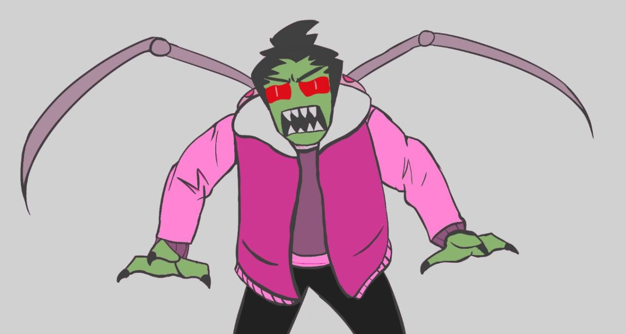 I cant get enough of an angry Zim. Probably being tsundere as usual. #zim#hinted zadr#zadr#fanart#angst#invader zim#invader angst#invader #I love the colors I used here  #where my big headed boy at