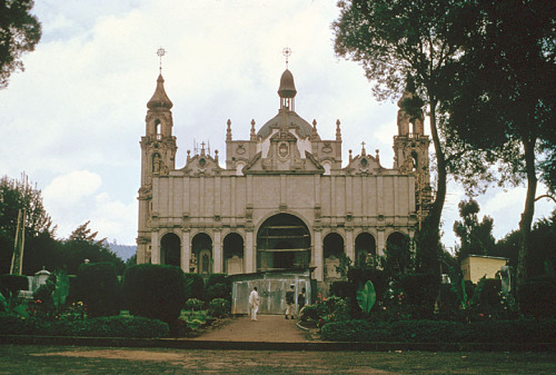 exiledpoetssociety:  Trinity Church in Addis Ababa unknown.