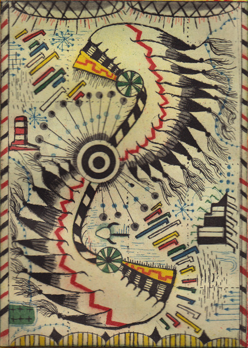 thestreamofconsciousness777:  A beautiful Native American blanket that was made during a very ugly period in American History. In 1830, the shameful forced removal of Cherokee, Choctaw, and other plains Indians began in earnest. They were marched to the Oklahoma territories where along the way, many died to disease, starvation, and other privations. It remains an obscene chapter in the American experiment.