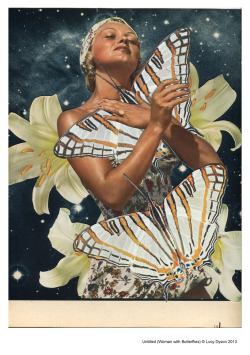 Untitled (Woman with Butterflies) 2013Paper collage  © L Dyson30 x 23 cm