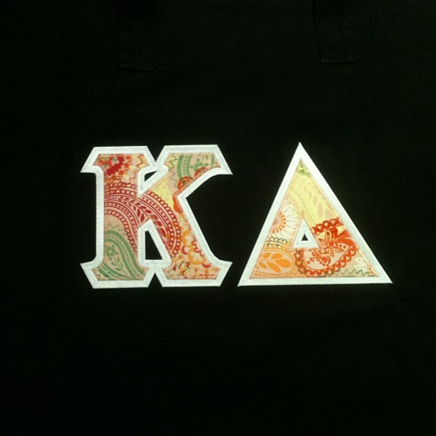 Look what came in the mail! I got me my ΚΔ tote bag #kappadelta #KD