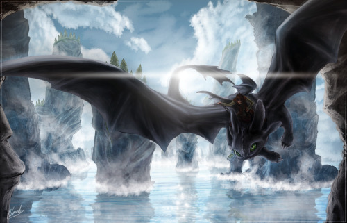 thatendyperson:  shortylego:  Night Fury - Train Your Dragon Speed Art - 7hrs IceDragonhawk  BEAUTIFUL