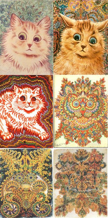 literature-and-lingerie:  Louis Wain just painted trippy ass pictures of cats…marry me