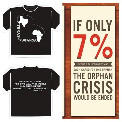 Texas to Uganda fundraising shirts are up for sale! 20 dollars for adults. 10 for kids. Uganda has been everything I've ever needed. Completely has my heart. I hope you'll prayerfully consider donating or purchasing a shirt to help in my return. Ill get to spend a month loving on my sweet Ugandan babies- can hardly wait. #bethechange #UgandaAuntieLove #OrphanCare #MedicalMissions