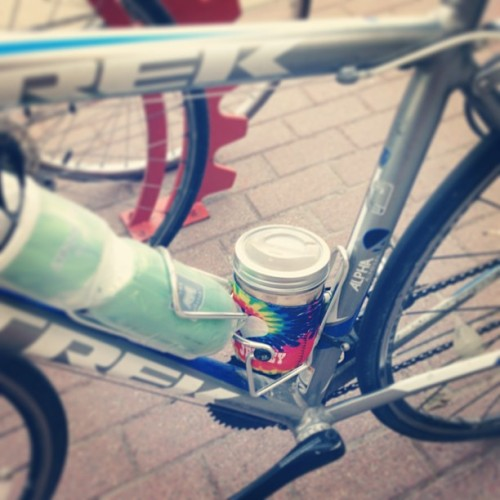 #coffee + #bikes + #cuppow =lots of hipster points, yeah? #365 #ivys365 #hashtag