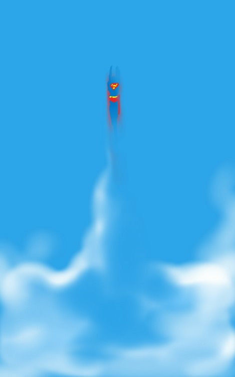 danmcdaid:  Superman Drawn with finger and sketchbook pro.