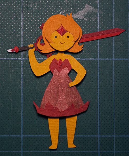 plaidcushion:  I was in a bad mood so I made Flame Princess. I feel a bit better now.
